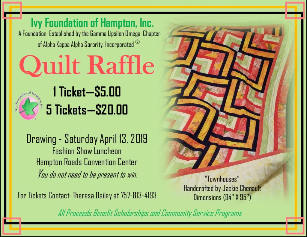 2019 Handcrafted Quilt Raffle